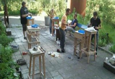 Impressie van Workshop Beeldhouwen