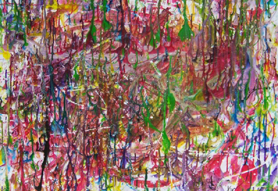 Impressie van Workshop action painting