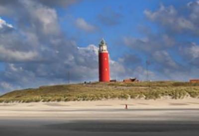 Impressie van Vuurtoren Eierland