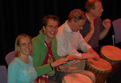 Impressie van Open Afrikaanse Percussieworkshop
